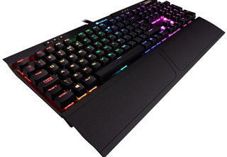 Corsair K70 RGB MK.2, Black, RGB LED - Cherry MX Red