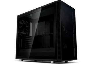 Fractal Design Define S2 Vision Blackout Fläkter: 3x 140mm front, 1x 140mm bak, ATX, mATX, ITX, Tempered Glass