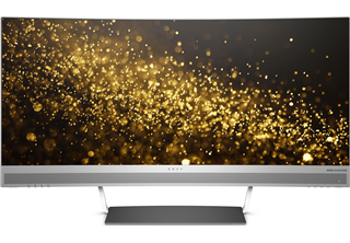 HP Envy W3T65AA WQHD Curved Display 34'' 3440x1440, 21:9, 6ms, 5M:1, HDMI/3xUSB/Display Port. Svart/silver