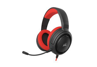 Corsair Gaming HS35 Headset Röd 3.5mm minijack, avtagbar, brusreducerand, headset kontroller, konsol, pc
