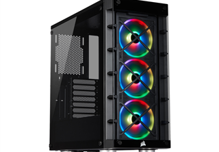 Corsair iCUE 465X RGB Midi Tower Svart Fläkter: 3x LL120 RGB, ATX, mATX, mITX, Tempered Glass