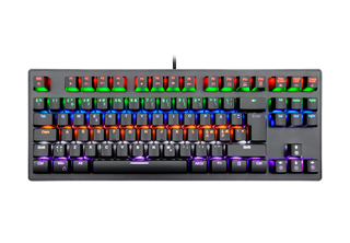 Zar Gaming Tangentbord TKL usb, nordisk, red switches, RGB, mekanisk tkl gaming tangentbord