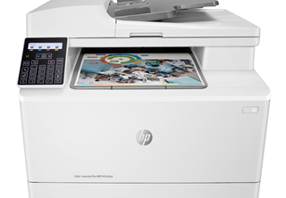 HP LaserJet Pro M183fw Color Laser, print/copy/Scan/fax, ADF, 16 ppm, 150 sheet, USB/Ethernet/Wifi