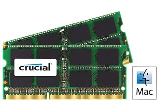 Crucial 8GB (2-KIT) DDR3 1333MHz CL9 SODIMM for Mac