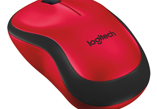 ''Logitech Wireless Mouse M220 silent red retail''
