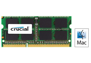 Crucial 8GB DDR3L 1600MHz (PC3-12800) CL11 SODIMM 204pin 1.35V/1.5V for Mac