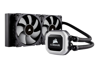 Corsair Hydro H100i PRO RGB CPU Kylare 240mm Radiator, 115x/2011-3/2066, AM2/AM3/AM4, 2400RPM, 75 CFM