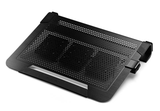 Cooler Master Notepal U3 Plus NB Kylare Supports 17''~19'', 435 x 333 x 76 mm, 950~1,800 RPM, 21~23 dBA, Aluminum