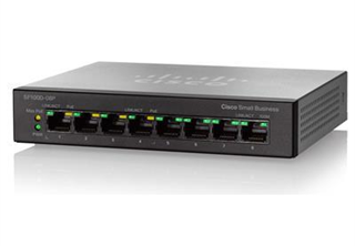 Cisco SG110D-08 Switch 8 port, Unmanaged, Fanless, QoS