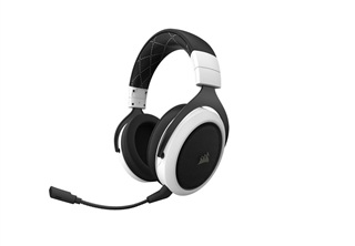 Corsair Gaming HS70 Headset Vit trådlös, usb, avtagbar mic, oppladbar, 7.1 surround, pc, ps4, gaming headset