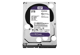 WD PURPLE Surveillance HDD 3,5'' 3TB, 64MB, 5400RPM