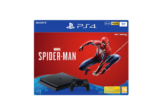 Playstation 4 Slim 1TB Spider-Man Svart PS4 Slim, 1TB HDD, Controller, HDMI kabel, Spider-Man