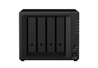Synology DS918+ DiskStation, 4-bay, Intel Celeron quad-core 2,3 GHz CPU,  4GB RAM: