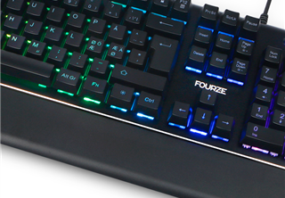 Fourze GK100 Gaming Keyboard, mechanic, num, blue