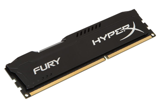 HyperX Fury DDR3 1600MHz 4GB 4GB 1600MHz (PC3-12800) DDR3 CL10, Svart
