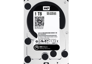 WD Desktop Black 1TB 3.5'' SATA 6GB/s (SATA 3.0), 64MB Cache, 7200RPM, Dual processor