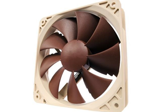 Noctua NF-P12 PWM 120mm Fläkt 120 x 120 x 25 mm, 300~1500 RPM, 63.4~92.3 m³/h, 12,6~19,8dBA, 4-pin PWM