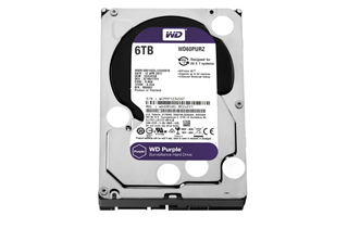 WD PURPLE Surveillance HDD 3,5'' 6TB, 64MB, 5400RPM