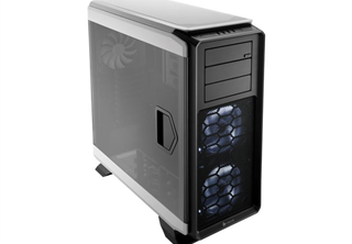 Corsair Graphite 760T Big Tower Vit Fläktar: 2x 140mm Front, 1x 140mm Bak, mATX, ATX, 2xUSB3/2, Vit LEDs, Fönster