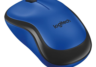 ''Logitech Wireless Mouse M220 silent blue retail''