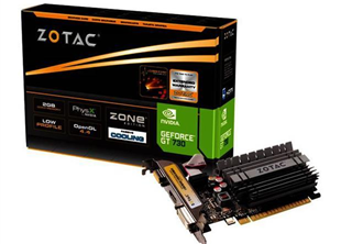 ''Zotac GT730 Zone            2GB PCI-E DVI HDMI LP passiv''