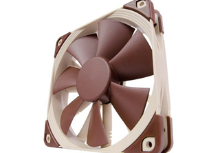 Noctua NF-F12 PWM 120mm Fläkt 120 x 120 x 25 mm, 300~1500 RPM, 74.3~93.4 m³/h, 18,6~22,4dBA, 4-pin PWM