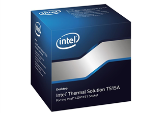 Intel TS15A CPU Air Cooler High performance air cooler for Skylake, 130w, works with all LGA115x