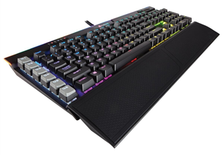 Corsair Gaming K95 PLATINUM Tangentbord usb a pass-through, nordisk, cherry mx brown, rgb, mekanisk gaming tangentbord