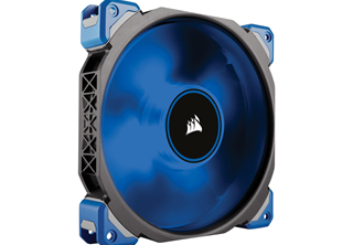 Corsair ML140 PRO LED Blå, 140mm Fläkt Magnetic Levitation Fan, 140x140x25mm, 400~2000 RPM, 20~97 CFM, 16-37dBA, 4-pin